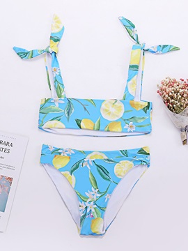 Summer Print Bikini Set Sexy Swimwear
