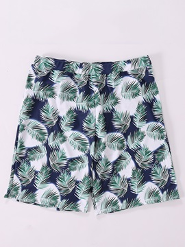 Tidebuy Leaf Print Men's Beach Board Shorts