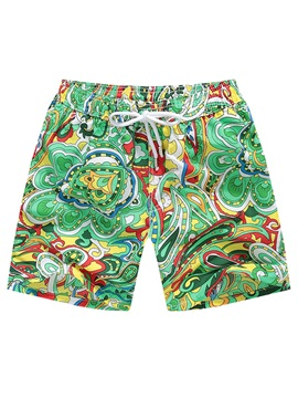 Tidebuy Ethnic Print Men's Beach Board Shorts