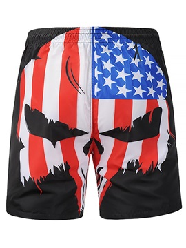 Stars And Stripes Elastic Men's Beach Bottoms