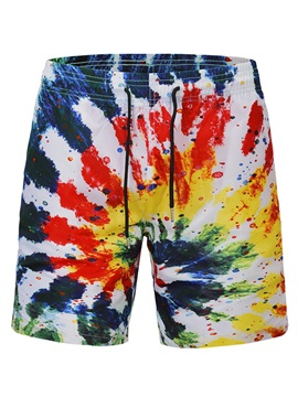 Tidebuy Lace-Up Colorful Men's Beach Board Shorts