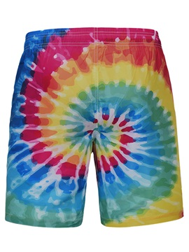 Tidebuy Colorful Print Straight Men's Board Shorts
