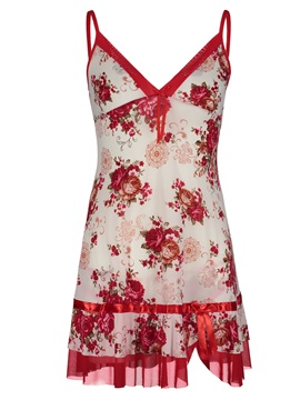 Floral Pullover Above Knee Nightgown