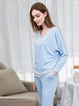 Color Block Pullover Women's Loungewear