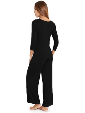 Modal Simple Women's Long Pajama Set