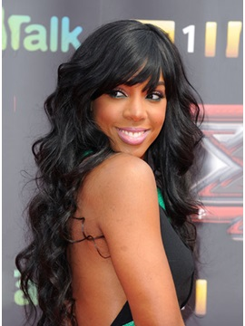 Top Quality Remy Human Hair Wavy Lace Front Wig about 24inches