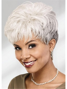 Women's 613 Blonde Color Natural Straight Synthetic Hair Wigs Capless Wigs 8Inch