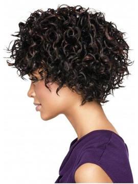 Hot Women's Sexy Short Length Curly Synthetic Hair Wigs Capless Wigs 12inch