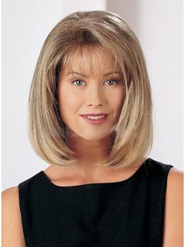 Elegant Medium Straight Capless Synthetic Hair Wig 12 Inches