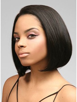 Medium Straight Synthetic Lace Front Wig 11 Inches