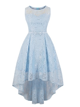 Scoop Neck A Line Lace Homecoming Dress