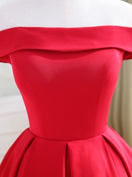 A-Line Off-the-Shoulder Sleeveless Homecoming Dress
