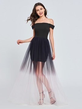 A-Line Off-the-Shoulder Pleats Homecoming Dress
