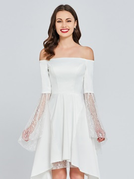 Off-the-Shoulder Lace A-Line Homecoming Dress