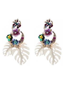 Bohemian Alloy Floral Holiday Earrings