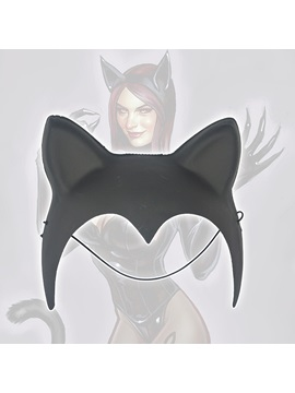 Black Cat Ear Catwoman Costume Halloween Hair Accessories