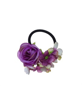Rose Decorated Double-Purpose Halloween Hair Rope Bracelet
