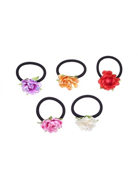 Camellia Shape Double-Purpose Halloween Hair Rope Bracelet