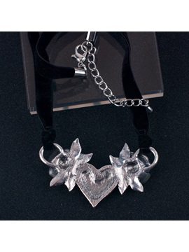 Gothic Heart-Shaped Oil Drip Halloween Party Necklace