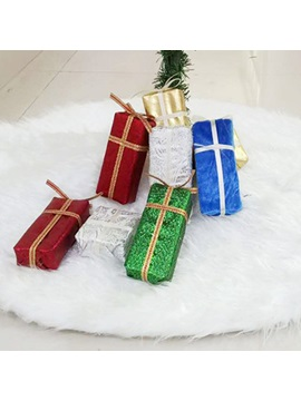 Pure Color Wool Christmas Tree Skirt