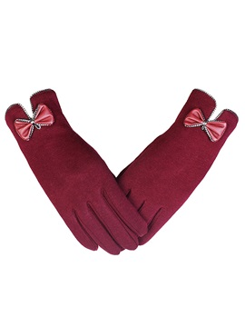 Casual Bowknot Winter Gloves