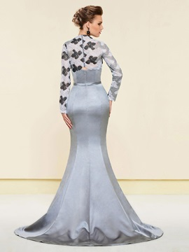 Bowknot Mermaid Evening Dress with Lace Jacket