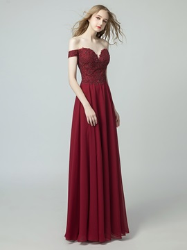 A-Line Beading Floor-Length Sweetheart Evening Dress 2019
