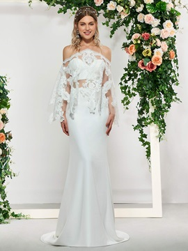 Sweetheart Lace Trumpet Wedding Dress with Jacket