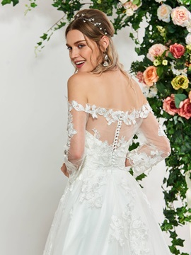 Sweetheart Appliques Wedding Dress 2019 with Jacket