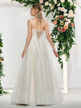 Cap Sleeves A-Line Sweetheart Lace Wedding Dress 2019
