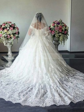 Ball Gown Off the Shoulder Appliques Wedding Dress 2019