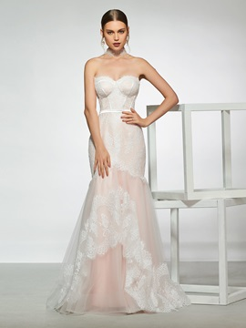 Sweetheart Neckline Lace Mermaid Wedding Dress 2019