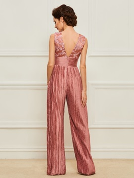 Appliques Plus Size Mother of the Bride Jumpsuits with Jacket