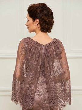 Sleeves Mermaid Lace Mother of the Bride Dress