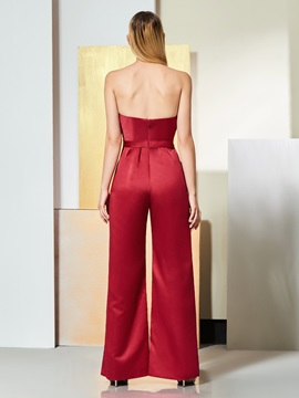 Sweetheart Pockets Mother of the Bride Jumpsuits