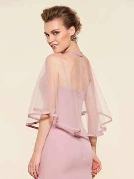 Spaghetti Straps Mother of the Bride Dress with Shawl