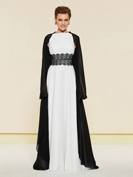 Straps Lace Belt Mother of the Bride Dress with Jacket
