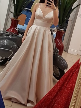 Strapless A-Line Floor-Length Sleeveless Prom Dress