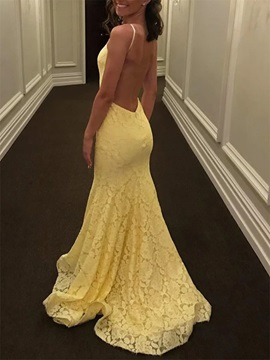 Mermaid Halter Beading Backless Lace Prom Dress 2020 & Prom Dresses under 100