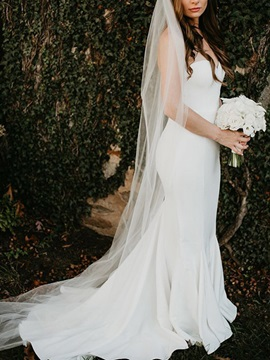 Simple Sweetheart Mermaid Wedding Dress 2019
