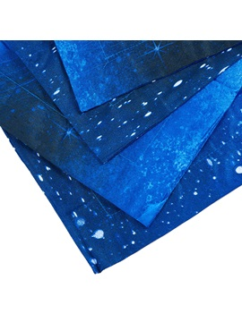 3D Galaxy Printed Blue Polyester 4-Piece Bedding Sets