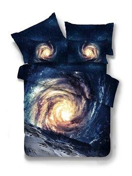 Galaxy 3D Printed Polyester 4-Piece Bedding Sets/Duvet Covers