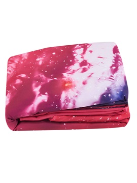 Colorful Spiral Galaxy Printed Cotton 3D 4-Piece Bedding Sets/Duvet Covers