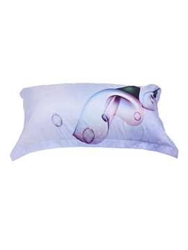 Calla Lily and Bubbles Printed Cotton 4-Piece 3D Bedding Sets/Duvet Covers