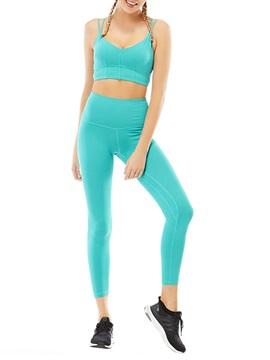 Slim Sport Bra and Leggings 2 Piece Yoga Set Tracksuit