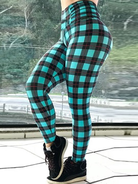 Plaid Color Block Sports Casual Women
