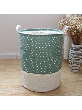 Cotton Linen Waterproof Laundry Storage Bucket Dirty Clothes Basket