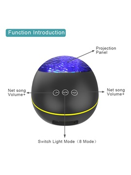 Lucky Stone Bluetooth Speaker Remote Control Projection Night Light