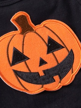 Halloween Appliques Kid's Clothing Sets Girl's Dresses