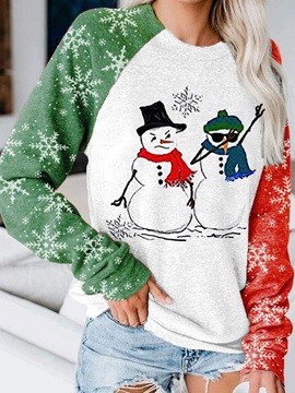 Christmas Patchwork Letter Mid-Length Fall Women's Hoodie